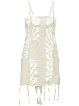 Techno Bands Mini Dress W/ Back Zip Givenchy 73ID19024-MTA10