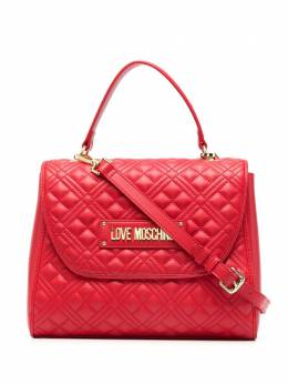 Love Moschino стеганая сумка-тоут с логотипом JC4206PP0CKA0