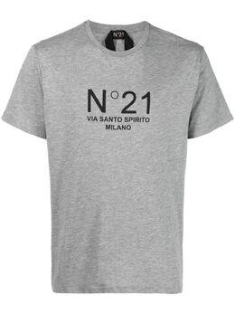 No. 21 футболка с круглым вырезом и логотипом 21EN1M0F0326316