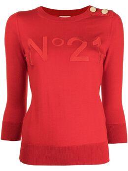 No. 21 джемпер с вышитым логотипом 21EN2M0A0029000