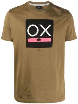 Ps by Paul Smith футболка из органического хлопка с принтом M2R010RFP2616