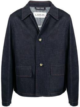 Lanvin джинсовая куртка с тисненым логотипом RMJA0211D003E21
