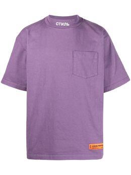Heron Preston футболка с нашивкой-логотипом HMAA024S21JER0013501