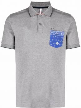 Sun 68 рубашка поло с контрастным карманом A31124