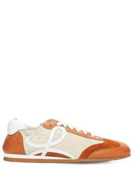 Кроссовки Из Кожи И Канваса 10мм Loewe 73IY69003-MjQzNQ2