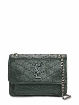Кожаная Сумка Niki Monogram Saint Laurent 73I05L047-MzA0NQ2