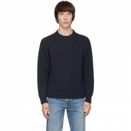 Nudie Jeans Navy Chunky Rib Frank Sweater 150483B21
