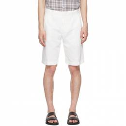 Ermenegildo Zegna White Cotton and Linen Twill Shorts UWI37-TB05