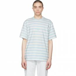 Noon Goons Blue and White Stripe Cruiser T-Shirt NGSP21030