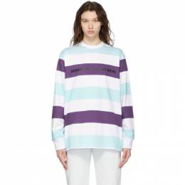 Noon Goons White and Blue Stripe Here Long Sleeve T-Shirt NGSP21029