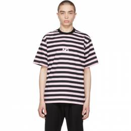 Noon Goons Black and Pink Stripe Cruiser T-Shirt NGSP21030