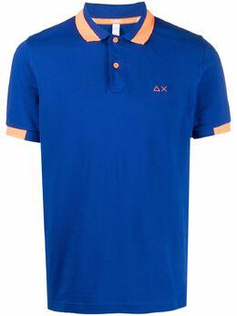 Sun 68 рубашка поло с контрастной отделкой A31119