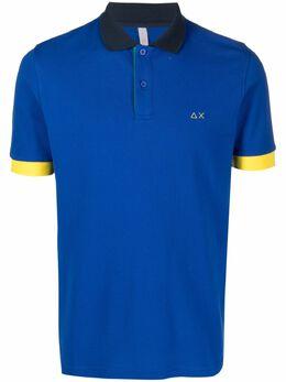 Sun 68 рубашка поло с контрастной отделкой A31112