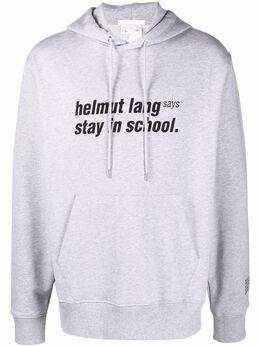 Helmut Lang худи с принтом Stay in School L02DM599