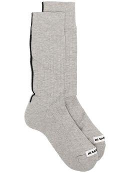 Jil Sander носки с логотипом и полосками JPUS756012MSY25128