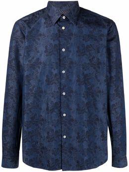 Manuel Ritz жаккардовая рубашка с цветочным узором 3032E600L21323989
