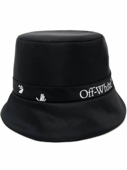 Off-White logo-tape reversible bucket hat OWLB013S21FAB003