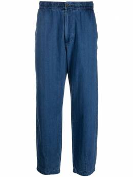 Universal Works elasticated-waist denim trousers 24530TrackTrouser