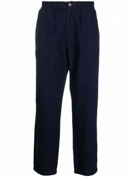 Universal Works straight-leg cotton trousers 24530HerringboneDenimTrackTrouser