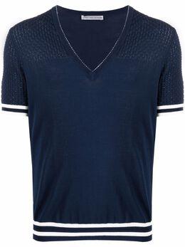 Daniele Alessandrini футболка с отделкой в полоску FM52161C4100