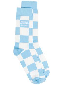 Opening Ceremony клетчатые носки с логотипом YMRA001S21FAB0020140