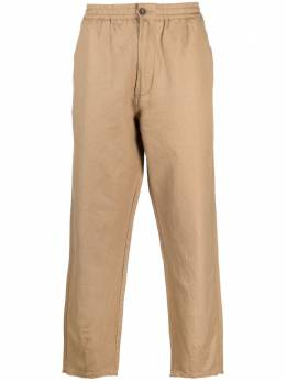 Universal Works straight-leg cotton-linen trousers 24136LinenCotSuiting