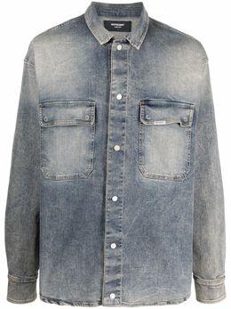 Represent джинсовая рубашка с длинными рукавами M07065