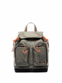 Ganni small logo-patch backpack A3345