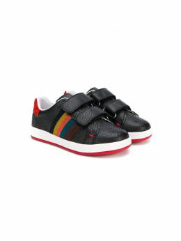 Paul Smith Junior rainbow-stripe sneakers 5M8151202