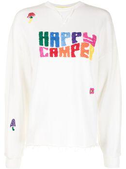 Mira Mikati толстовка с надписью Happy Camper SWT006SS21