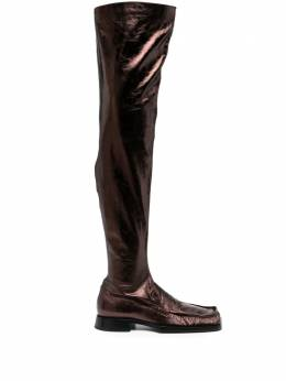 Jil Sander leather over-the-knee boots JS36109A13182