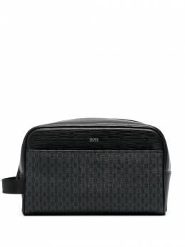 Boss by Hugo Boss monogram-print wash bag 50451610