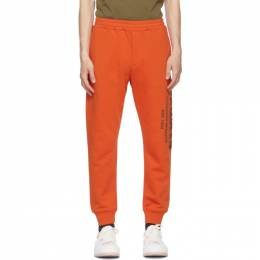Alexander McQueen Orange Graffiti Lounge Pants 662580QRZ71