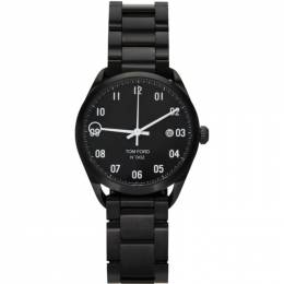 Tom Ford Black Stainless Steel 002 Watch 20163878+20204386