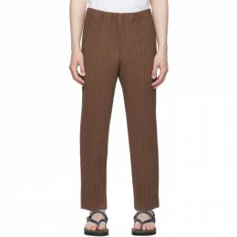 Homme Plisse Issey Miyake Brown Tailored Pleats 2 Trousers HP16JF214