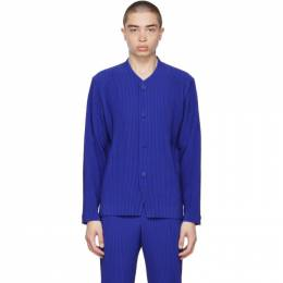 Homme Plisse Issey Miyake Blue Tailored Pleats 2 Cardigan HP16JD211