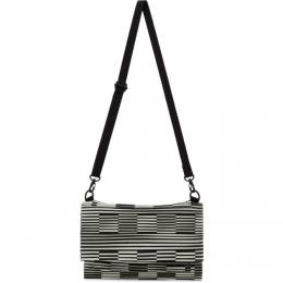 Homme Plisse Issey Miyake White and Black Hologram Bag HP17AG512