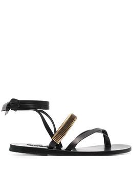 Ancient Greek Sandals сандалии Lafitis с ремешками LAFITISCVBLACK