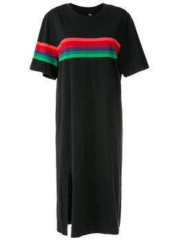 Osklen платье миди с контрастными полосками 61566