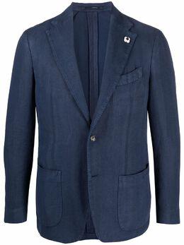 Lardini однобортный пиджак с узором в елочку EL389AV97ELR56203