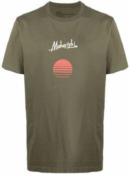 Maharishi футболка из органического хлопка с логотипом 9317COTTONOLIVE