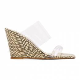 Maryam Nassir Zadeh Transparent and Brown Cobra Olympia Wedge Sandals 046 OLYMPIA WEDGE