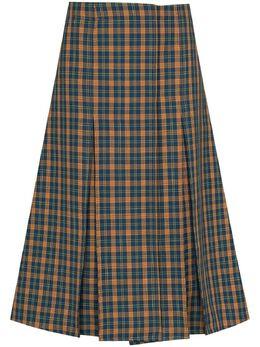 Wales Bonner юбка миди в клетку тартан WS21SK01DRI600F1000