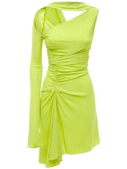 Платье Из Креп-джерси Mugler 74I1KT044-NTEyMw2