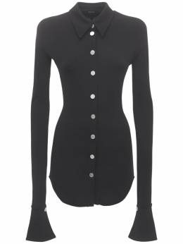Рубашка Slim Из Джерси Mugler 74I1KT018-MTk5OQ2