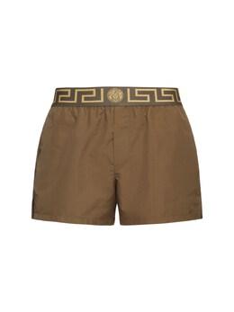 Плавательные Шорты Из Нейлона Versace Underwear 72I0CL013-MksyODA1
