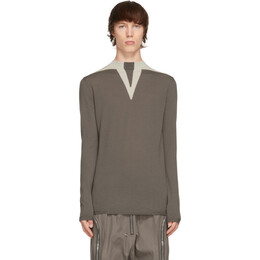Rick Owens Grey Wool Round Neck Sweater RU21S6646 KGEO