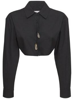 Рубашка Из Хлопка Christopher Esber 73I3KU050-QkxBQ0s1