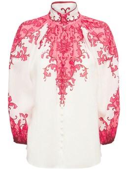 Рубашка С Принтом Nina Zimmermann 74IRSQ069-V0FURVJNRUxPTiBQUklO0