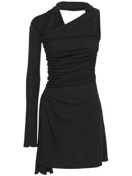 Платье Из Креп-джерси Mugler 74I1KT043-MTk5OQ2